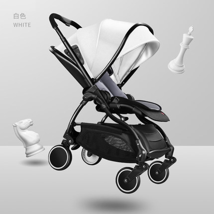 2019 Baby Stroller Dual-use Lightweight Folding Can Sit Two-way 0-3 Years Old Children Newborn Leather Stroller T01