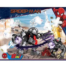 8pcs Avengers 4 Endgame Spider Man VS Venom Building Blocks Bricks Boy Toys B638