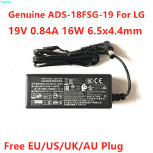 Oryginalne ADS-18FSG-19 19V 0 84A 16W AC przejściówka dla LG 19M38A 19M38D 19M38H 22MK430H LCAP36 LCAP42 ładowarka zasilająca tanie tanio EKAWI CN (pochodzenie) 19 v Uniwersalny EU US UK AU