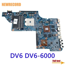 Newrecord 665284-001 665281-001 650854-001 Voor Hp Pavilion DV6 DV6-6000 Laptop Moederbord Socket FS1 DDR3 HD6750 1Gb Volledig Test