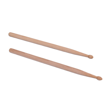 2Pcs Professional Light Weight Endearing Music Band Maple Wood Oval Tip Drum Sticks Percussion Instruments Parts Accessories image