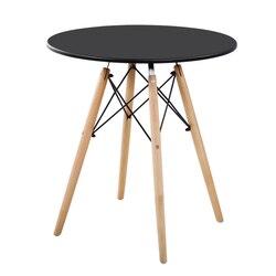 Prostota w stylu nordyckim wypoczynek z litego drewna restauracja domowa okrągły stół restauracja mleczarski sklep herbaciany recepcja spotkanie gości na