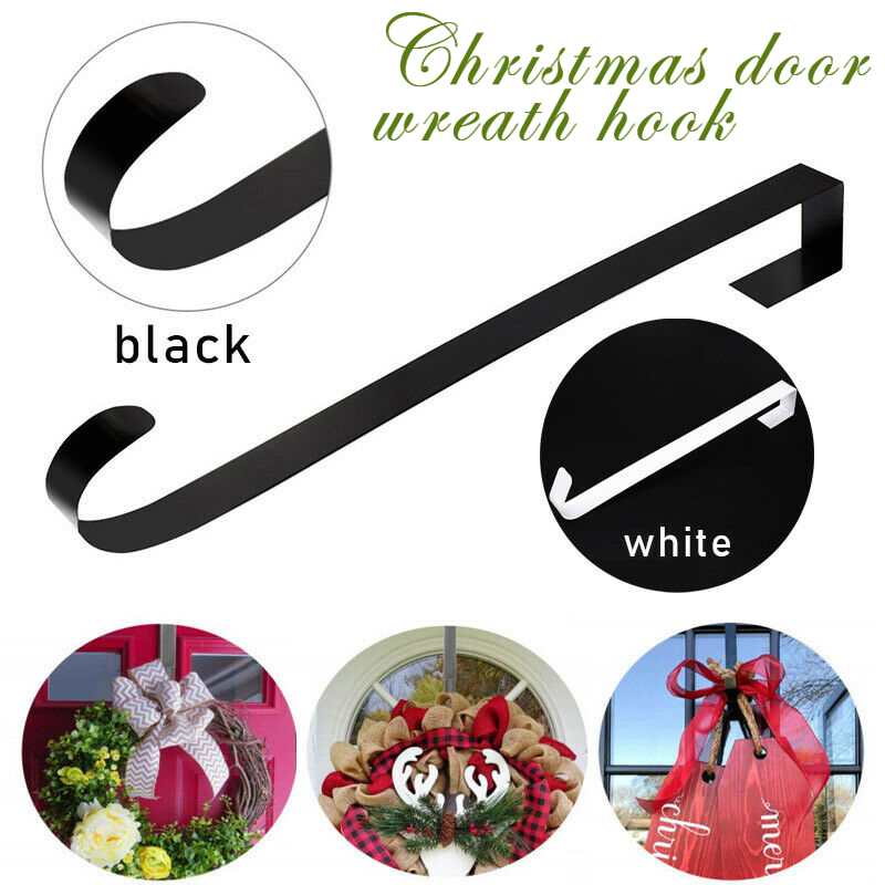 Economical Christmas Wreath Door Hanger Secure Strong Metal Hook Xmas Garland Holder For Party Ds99