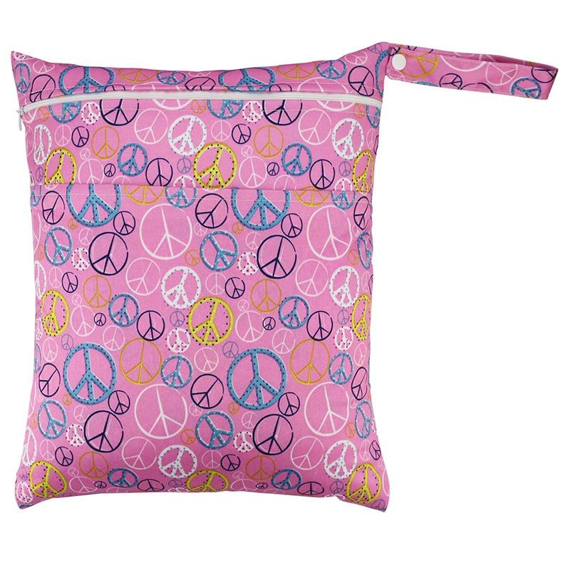 Waterproof Baby Diaper Bag New Retail Cloth Diaper Bags Washable Reusable Wet Bag RW7