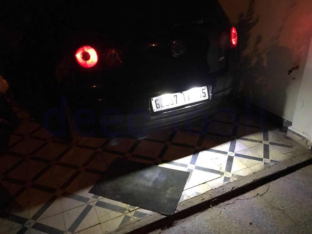 2x NUMBER PLATE BULBS 6 LED WHITE CANBUS FREE ERROR VW POLO 9N 9N3 2001-2009