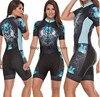 Roupa de ciclismo feminina manga curta, equipamento de equipe corporal sexy de tri skinsuit, roupas de ciclismo personalizadas, triathlon, 2020 13
