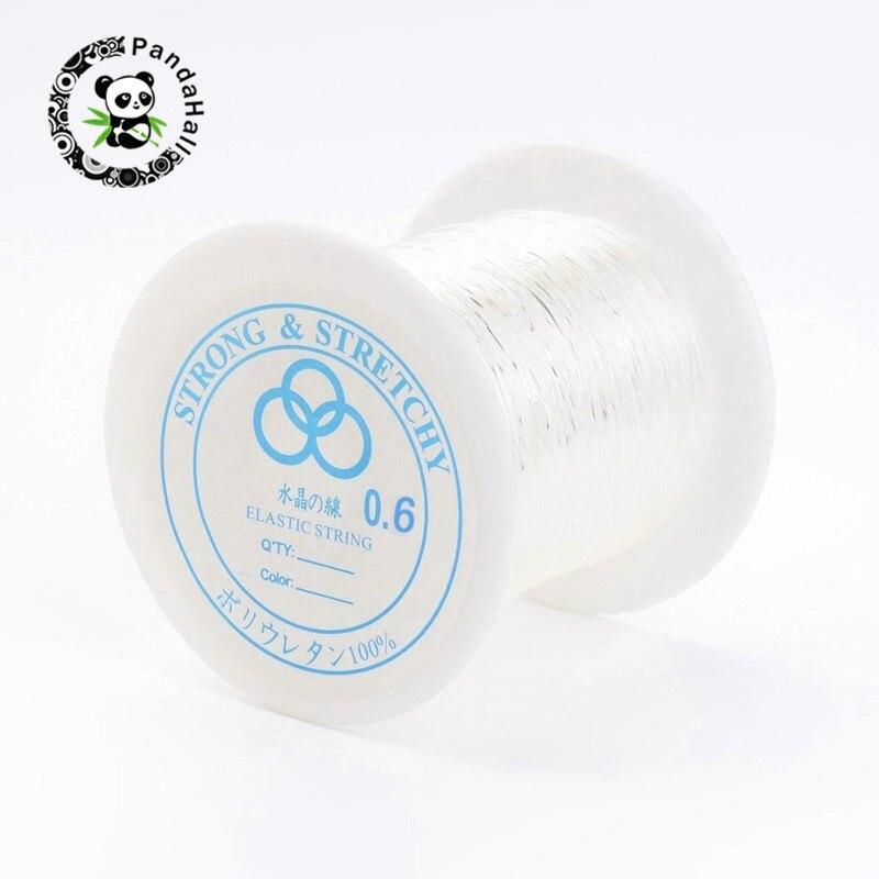 Pandahall 25 rouleaux fil de cristal élastique pour la fabrication de bijoux bricolage matériaux de cordage clair 0.6mm/0.7mm/0.8mm environ 100 m/rouleau-in Bijoux et composants from Bijoux et Accessoires    2