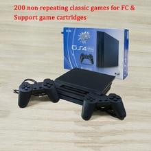 8Bit Game Station Controller 4 GS4 PRO dla FC odtwarzacz TV gra wideo konsola wbudowana 200 nie powtarzające się gry dodatkowy wkład prezent