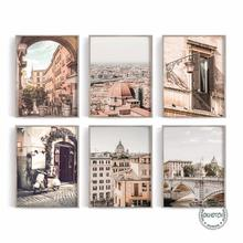 Европа пейзаж из путешествия холст картина в итальянском римском фон для фотосъемки напечатанный плакат Настенные картины для Гостиная Ку...