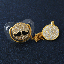 Bling Moustache Baby Pacifier Fashion Shiny Crystal Safe Gift