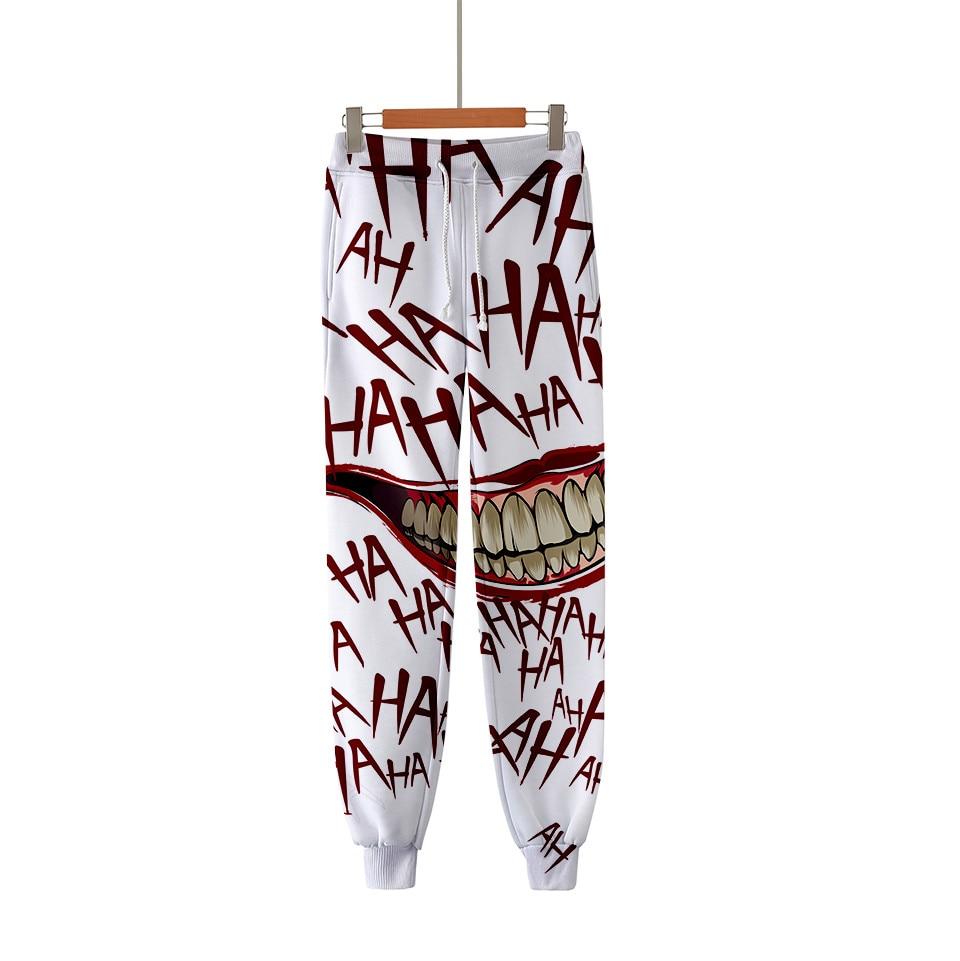Спортивные штаны HAHA Joker с 3D принтом, модные штаны для бега в стиле Харадзюку, повседневные теплые тренировочные штаны 2020, облегающая уличная ...