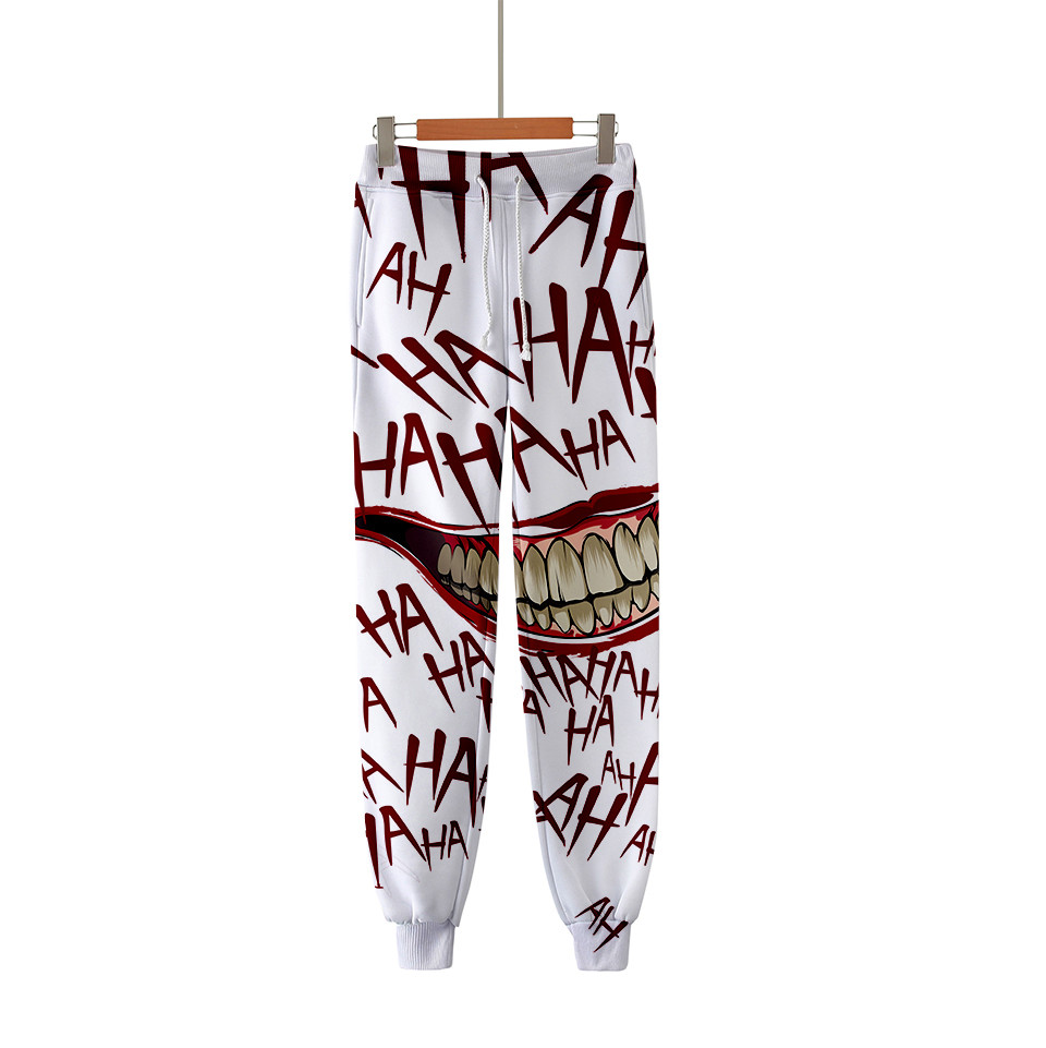 HAHA Joker 3D Printed Sweatpants Fashion Harajuku Jogger Pants 2020 Casual Warm Track Pants Slim Streetwear Men/Women Trousers