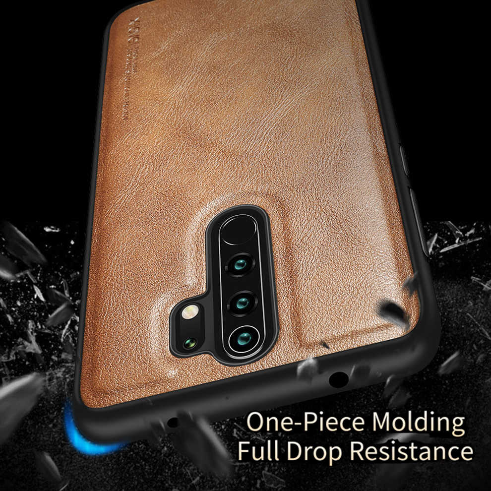 X-Niveau Pu Leather Case Voor Xiaomi Redmi Note 8 Pro Zachte Siliconen Rand Shockproof Back Telefoon Cover Voor redmi Note 8 Case Funda