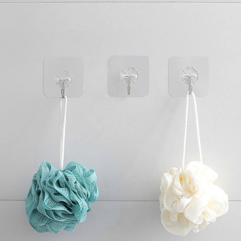 20Pcs Sucker Hook Strong Transparent Suction Cup Sucker Wall Hooks Hanger For Kitchen Bathroom Dropshipping