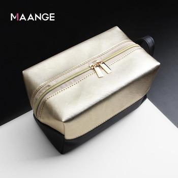 El fabricante vende MAANGE/MAANG nuevo producto Litchi patrón negro oro cosméticos bolsa de cepillo y bolsa de colección de cosméticos.