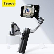 Baseus katlanabilir Metal Smartphone el Gimbal sabitleyici 3-Axis cep boyutlu telefon Gimbals için IOS/Android mobil kamera