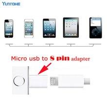 300 ชิ้น/ล็อตสายชาร์จ Micro USB สำหรับ iPhone iPad Micro USB หญิงถึง 8 พินสำหรับ Apple Adapter อะแดปเตอร์