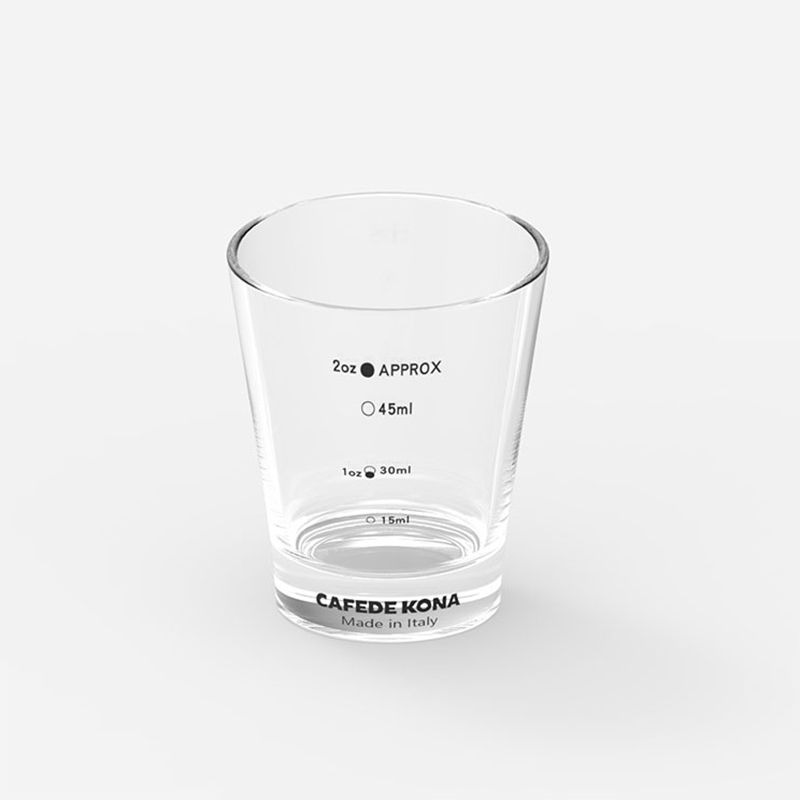 Espresso Ounce Cup Pyro Glass Measuring Cup With Marking 2 Ounce/60ml Made In Italy  Thickened Glass Measuring Espresso Tools