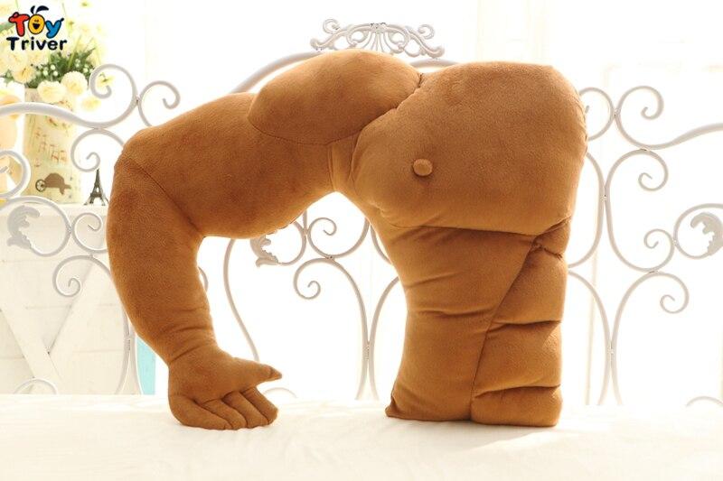Забавная мышечная Мужская Подушка бойфренд сон Шея путешествия тело колено сон подушка девушка подарок на день рождения Домашний диван декор