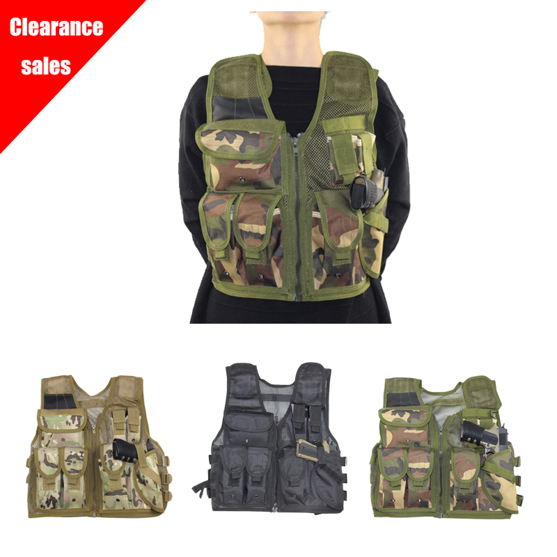 Multi-pocket Tactical Vest Men Military Army Light Weight Molle Mesh Vest Chest Rig Pouch Holster Airsoft Paintball CS Duty Vest