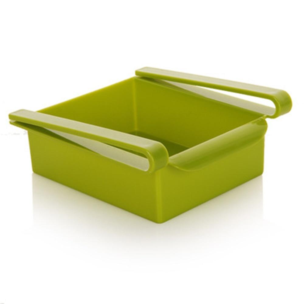 4 Colors Durable Slide Kitchen Fridge Freezer Space Saver Organizer Storage Rack