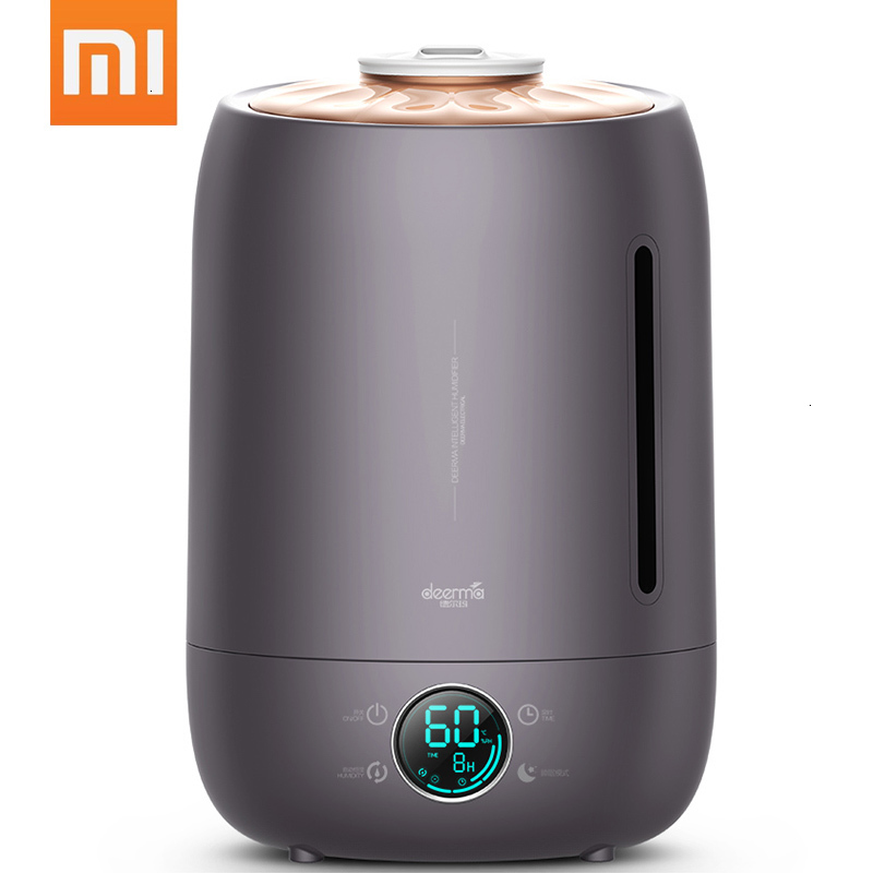 2020 Xiaomi Deerma Ultrasonic Humidifier 5L Touch Temperature Intelligent Constant Humidity Humidifier LED Digital Display