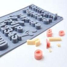 Kek dekorasyon araçları İbranice harfler silikon çikolata kalıp mektup numarası fondan kalıpları çerezler Bakeware araçları mutfak Cocina