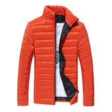 2019 winter mens cotton coat collar wild color jacket fashion simple windproof waterproof warm casual