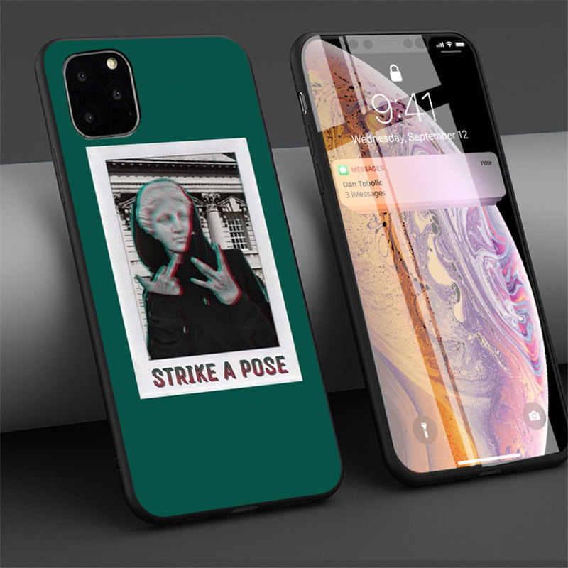 Lovebay untuk iPhone 11 Kasus Seni Abstrak Lukisan untuk iPhone 11 Pro X XR X MAX 7 8 6 6 S PLUS 5 5 S SE Lembut Tpu Ponsel Case Penutup