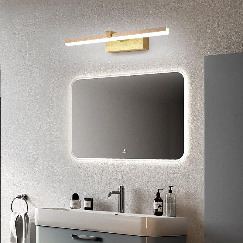 400/600/800mm Gold Modern led mirror lights for washroom home deco 90-260V Make up wall lamp