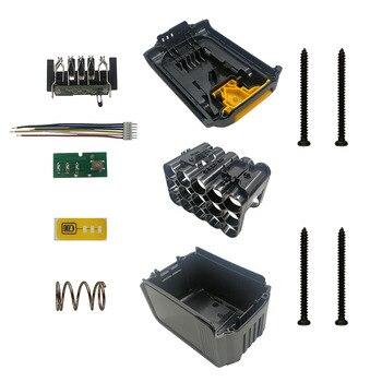 DCB200 литий-ионный аккумулятор 15*18650, пластиковый чехол, защитная печатная плата для зарядки, корпус для DeWault 18 в 20 в DCB203 DCB204