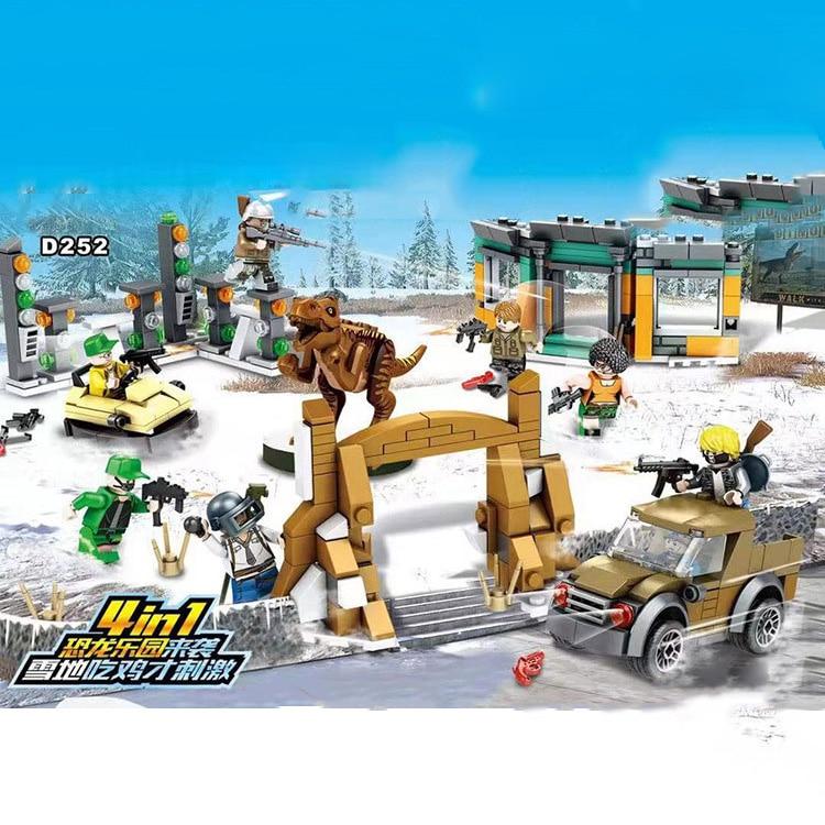 6pcs//set Military Survival Suit Parachute Building Blocks Bricks Models Toys