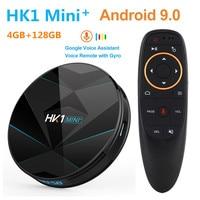 HK1 Mini Plus Smart TV BOX Android 9.0 4G 128G 32G 64G 2.4G/5G Wifi Bluetooth 4K Google Player PK HK1 MAX RK3318 Android TV Box