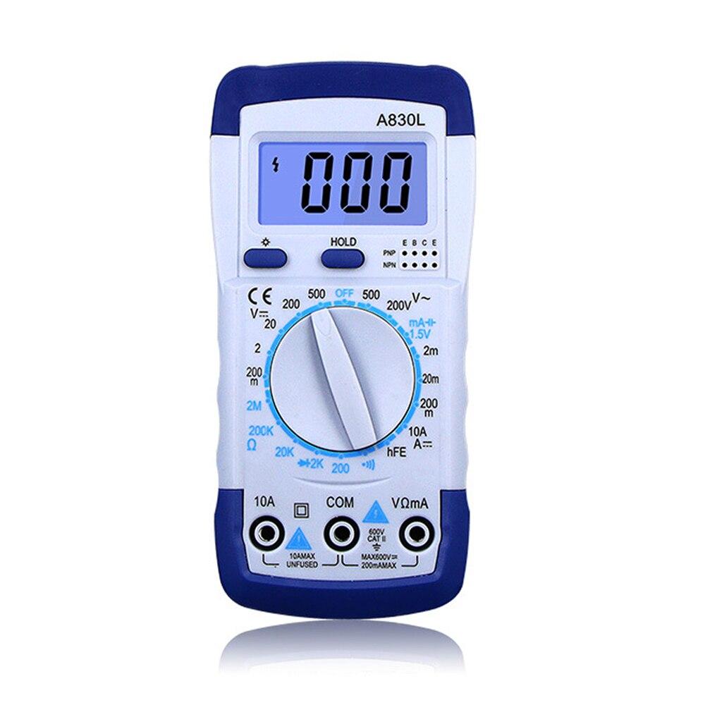 Multimètre numérique LCD, A830L, 1 pièce, tension AC DC, Diode fréquence, multitesteur de courant, affichage lumineux avec fonction Buzzer
