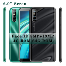 K5 smartphones Android Quad Core 4G RAM 64GB Cellphones Global Version Unlocked Face ID 13MP HD Camera Mobile phones 3G Wifi cheap BYLYND Detachable Face Recognition Up To 48 Hours 3200 Adaptive Fast Charge Smart Phones Bluetooth 5 0 Capacitive Screen