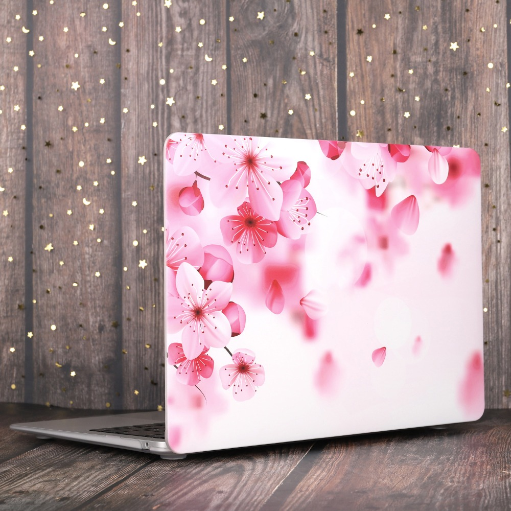 Marble Flower Bling Case for MacBook 86
