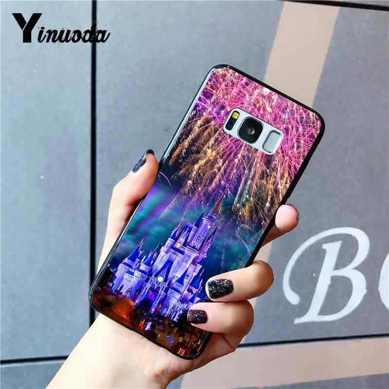 Yinuoda külkedisi kale prenses yumuşak silikon TPU telefon kapak için Samsung GALAXY S9 artı S3 S6 7 8 9 S10 E S9 Coque kabuk