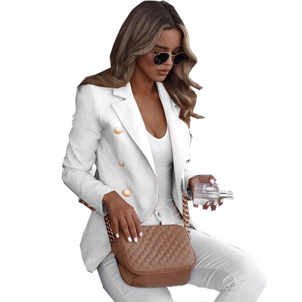 Womens Blazer Casual White Jacket Vintage Christmas 2020 Gothic Korean Clothes 2020 Long Coat Women Plus SizeCasual