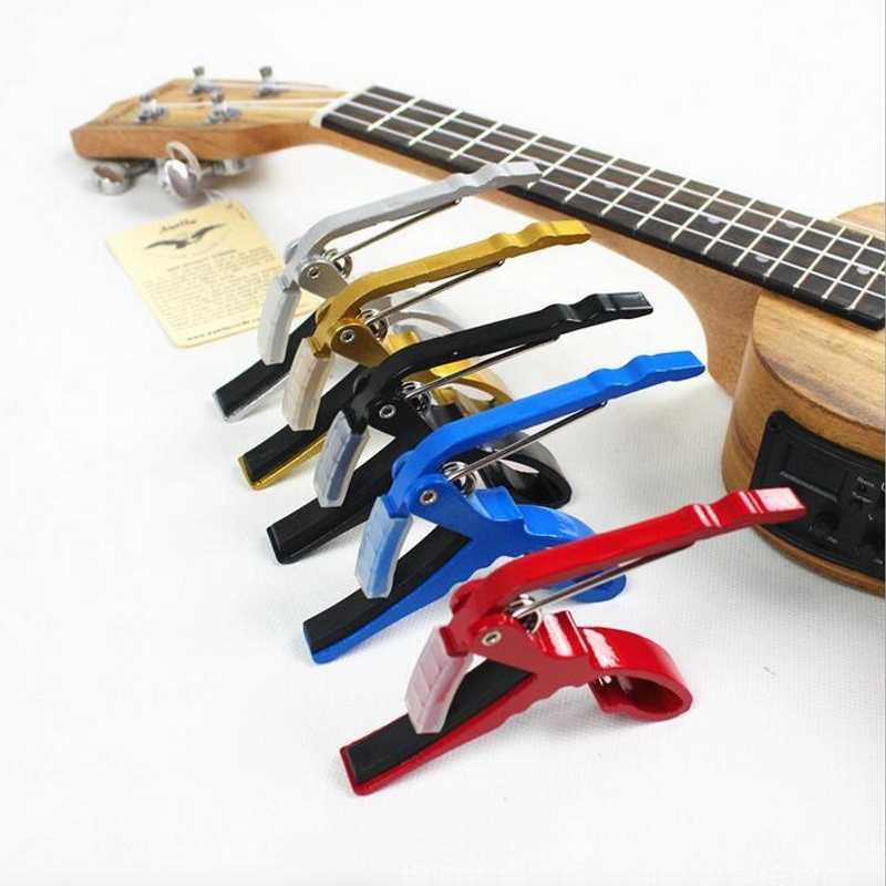 Pince à changement rapide en alliage d'aluminium pince à clé Capo de guitare électrique classique acoustique pour réglage du ton