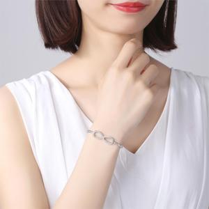Image 2 - TONGZHE ไม่มีที่สิ้นสุดสร้อยข้อมือบุรุษ 2019 925 เงินสเตอร์ลิง CZ Rose Gold Charm Infinity สร้อยข้อมือสำหรับผู้หญิงเครื่องประดับ Pulsera