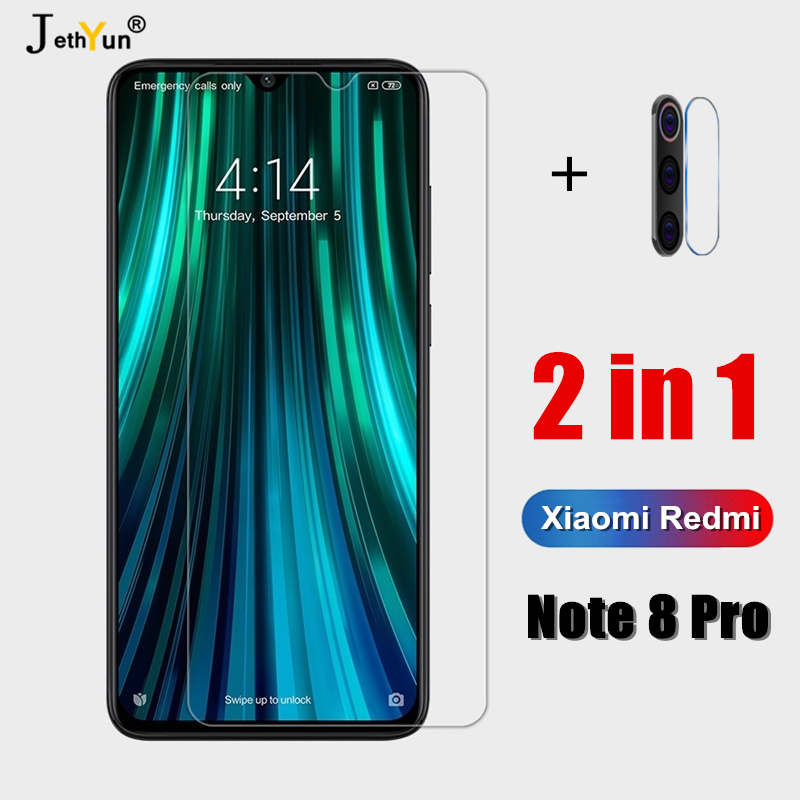 2 In 1 Tempered Glass For Xiaomi Redmi Note 8 Pro 9H Protective Camare Redmi Note8pro Screen Protector Note 8 Pro Mi8pro  Lens