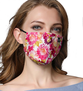 Women Fashion Cotton Print PM2.5 Mouth Mask Anti Dust Mask Activated Carbon Filter Mouth-muffle Bacteria Proof Flu Face Masks