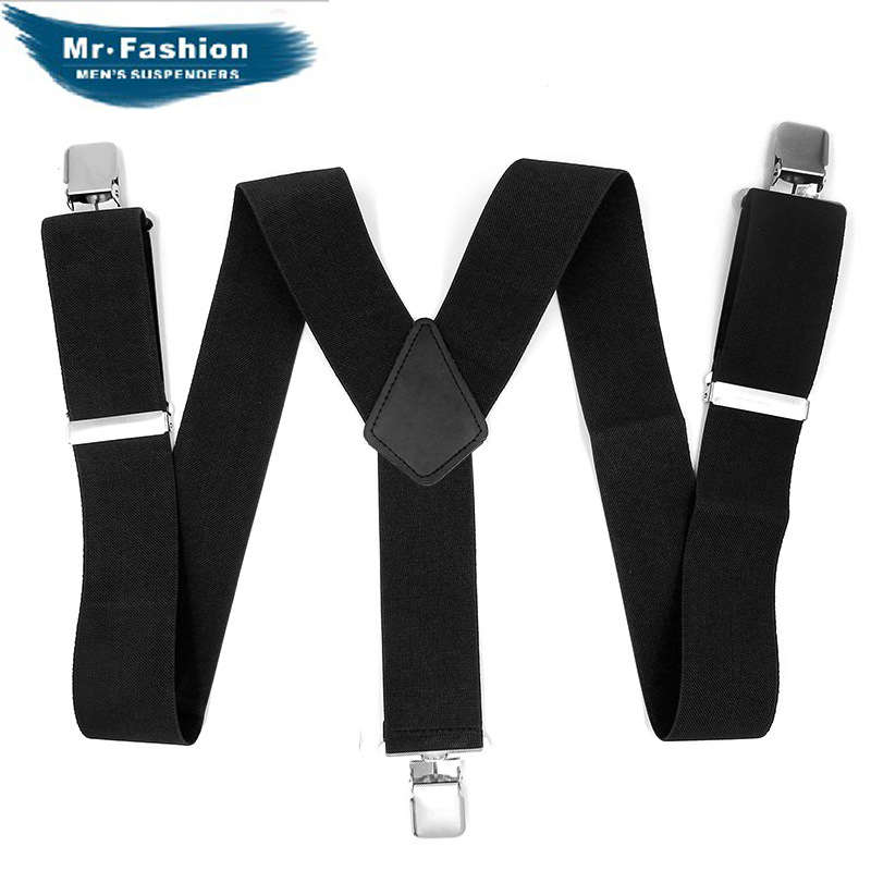 Brand 5 Centimeters 3 Clip Y-Shaped Black (Men's) Suspender Strap Europe And America Size