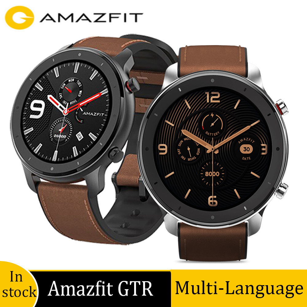 Global version amazfit GTR 47mm smart watch with GPS 24 Days battery life sport watch 5ATM waterproof Swimmingwatch|Smart Watches|   - AliExpress