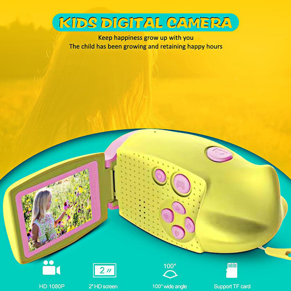 Kids Handheld Mini DV 1080P Vlogging Camara Fotografica Digital Photo Video Camera Camcorder Education Toys Children Best Gift