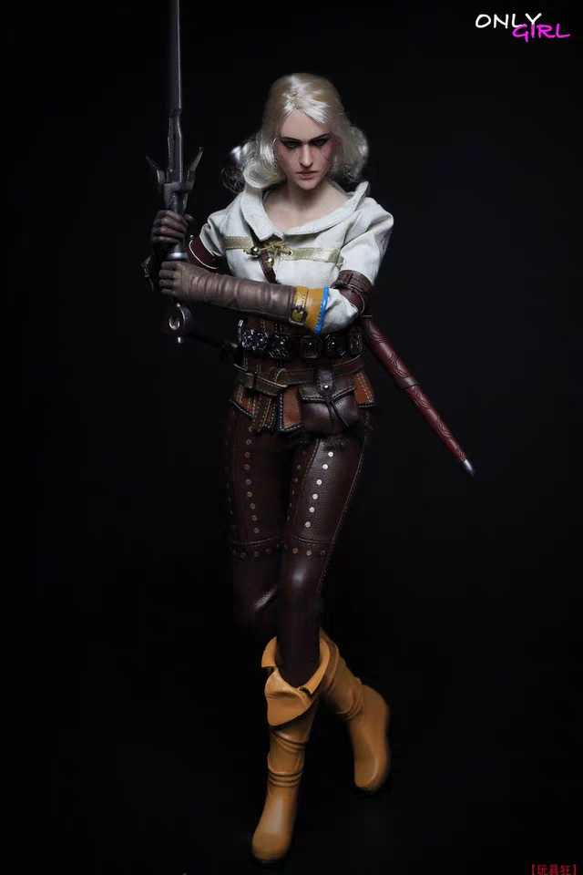 1/6 Scale Ciri Action Figure With Female Body Head Sculpt Underwear Brown Trousers Boots Collection
