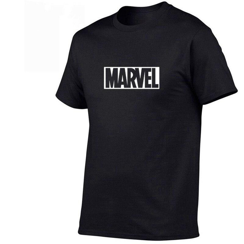 2019 Summer New Fashion T Shirt Mens Cotton T-shirts Tee Short Sleeve High Quality Boys Tshirt TOPS Navy Print MARVEL