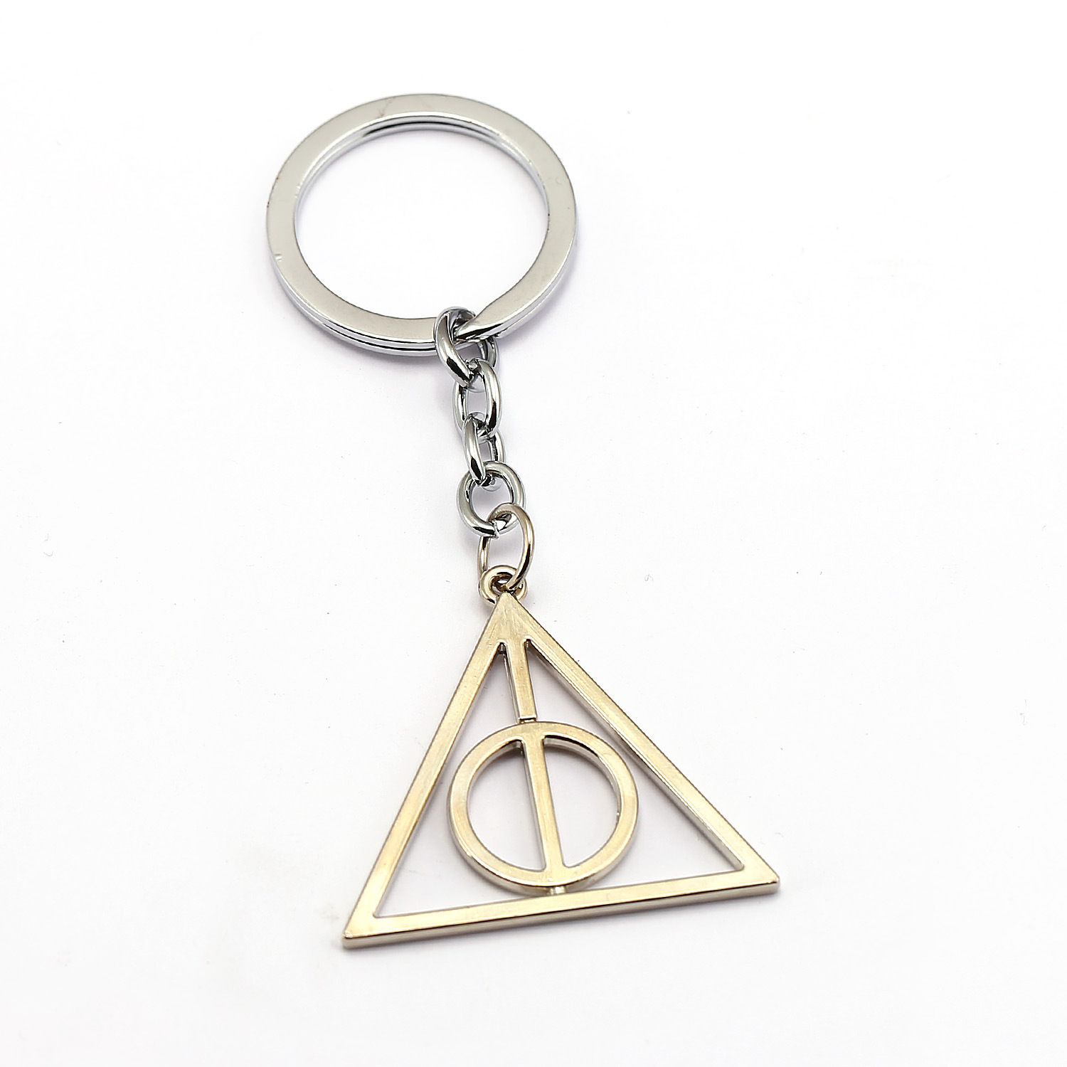 Film And TV Accessories Harry Potter Souvenirs Luna Triangular Deathly Hallows Pendant Necklace