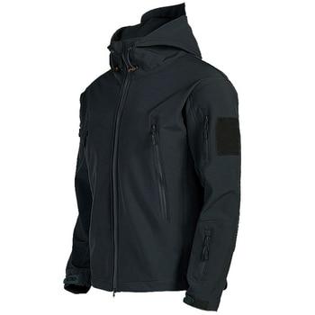 Military Shark Skin Soft Shell Jackets Men Tactical Windproof Waterproof jacket men Army Combat Jackets Mens Hooded Bomber Coats 2
