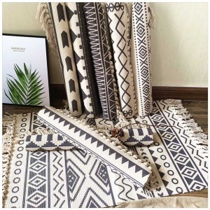 Cotton Tassel Home Weave Carpets Welcome Foot Pad Bedroom Study Room Floor Rugs Prayer Mattress